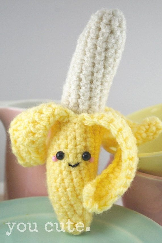 Crochet Pattern Amigurumi Banana Random Lols Pinterest