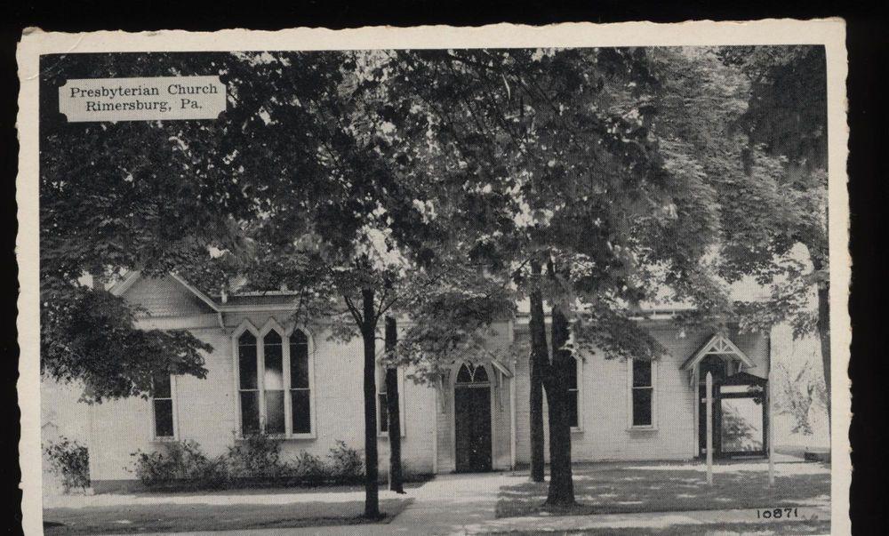 RARE POST CARD Presbyterian Church RIMERSURG PA  Carl Don Studio Clarion unused