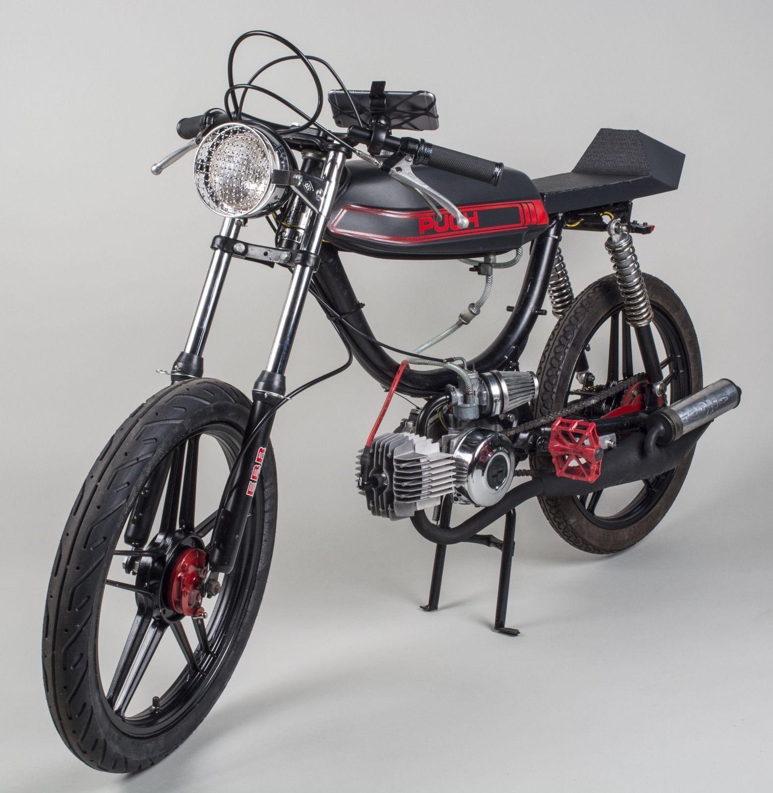 puch magnum moped flat black 51mph 70cc ebay cars. Black Bedroom Furniture Sets. Home Design Ideas
