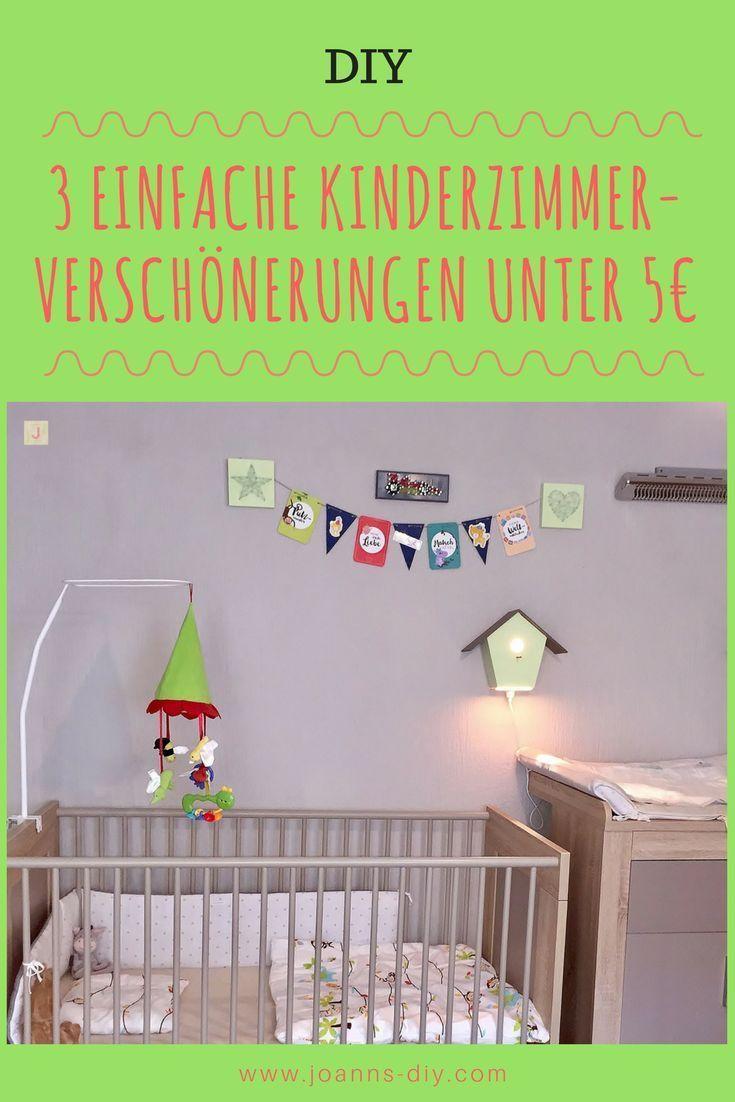 3 einfache KinderzimmerVerschönerungen unter 5€ Kinder