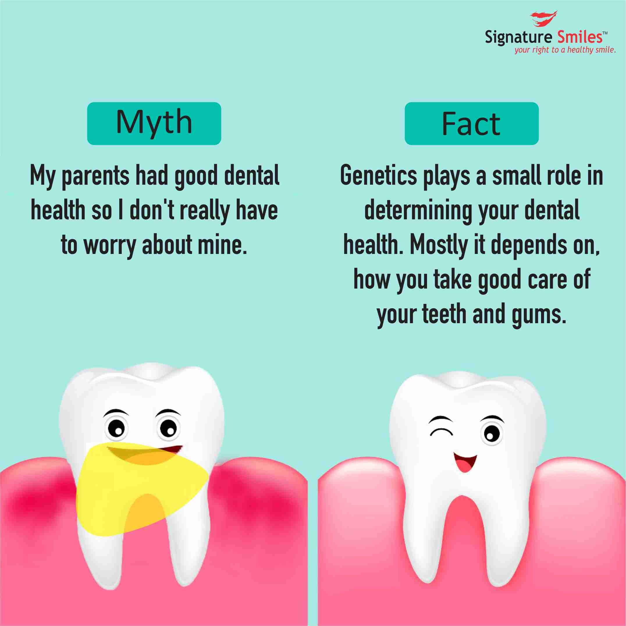 Your Dental Health depends on how you take care of it.