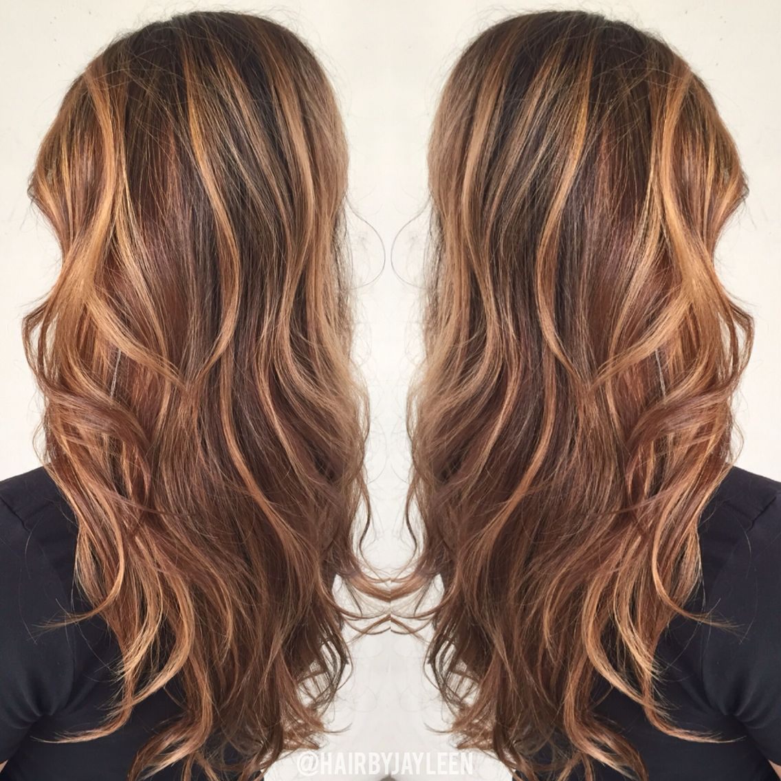 Brown hair color, caramel highlights, caramel balayage ...