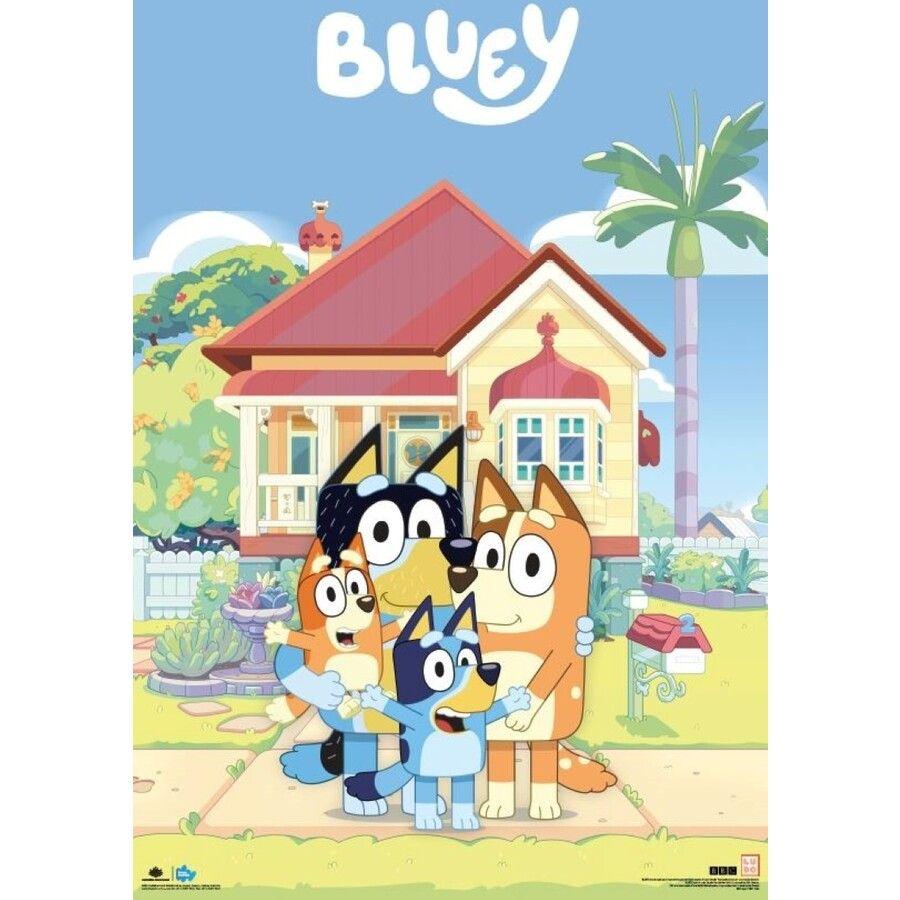Bluey Family House Poster Birthday Invitations Kids Dog Birthday Invitations Abc For Kids