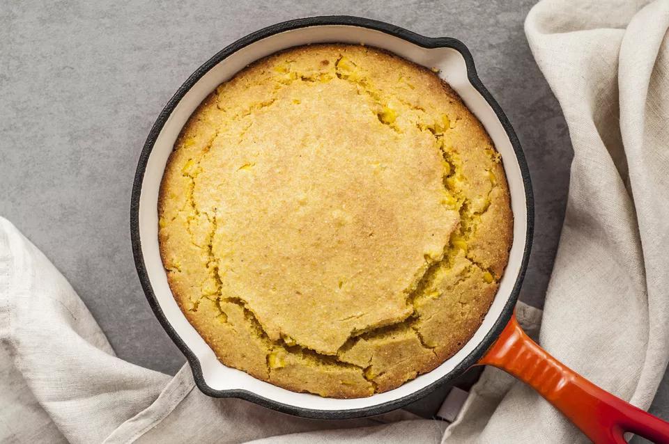 Try This Moist Buttermilk Cornbread With Cream Style Corn Recipe In 2020 Buttermilk Cornbread Corn Bread Recipe Cornbread