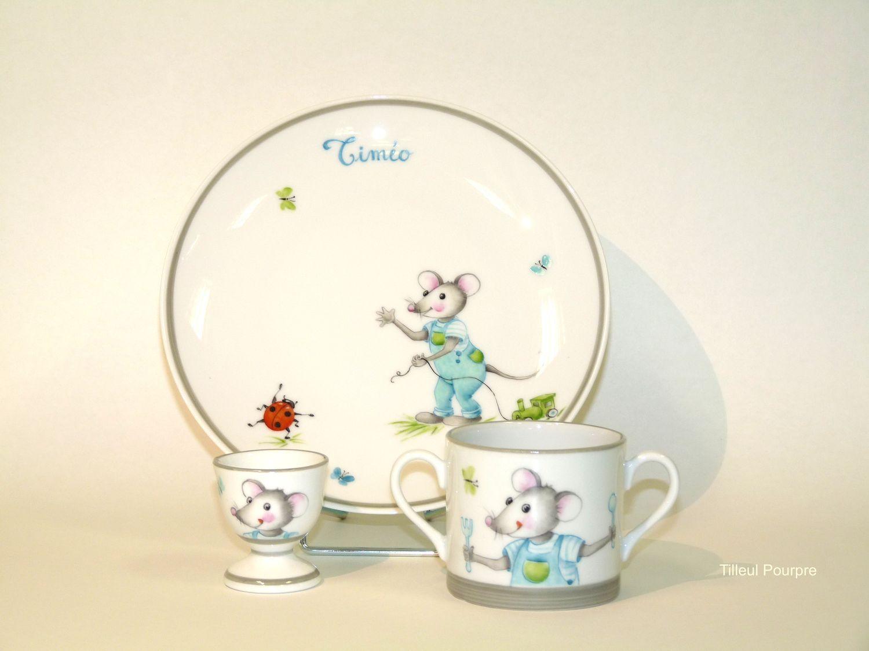 Tuto Peinture Sur Porcelaine souricette | peinture sur céramique, dessin enfant