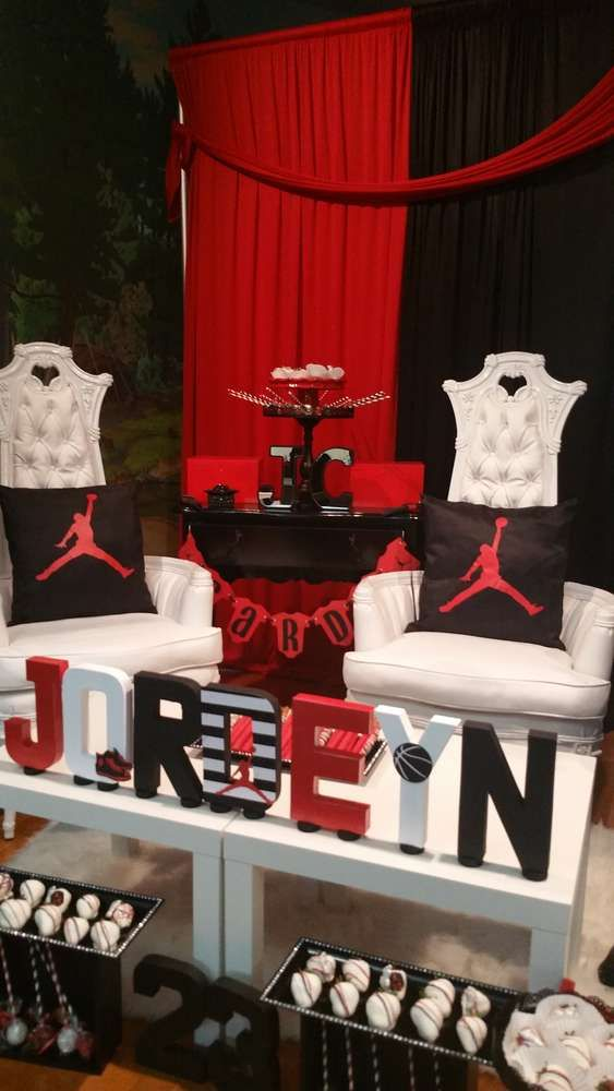 Michael Jordan Baby Shower Party Ideas  Photo 11 of 11  Jordan