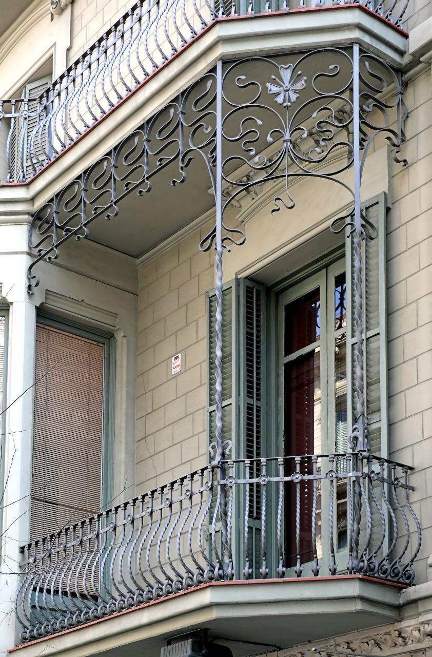 Great Portal, Terrace, Wrought Iron, Iron Gates, Rooftops, Railings, Cast Iron,  Facades, Art Nouveau