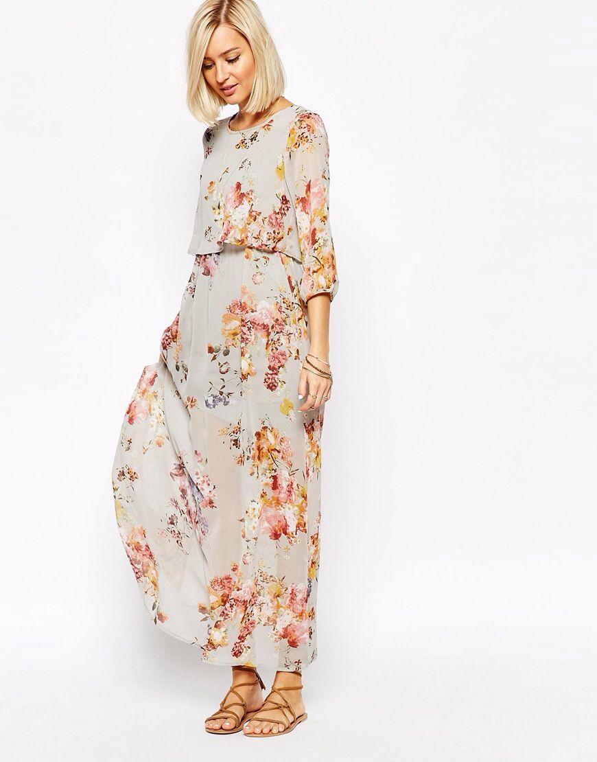vero moda floral boho maxi dress at asos | boho kleid