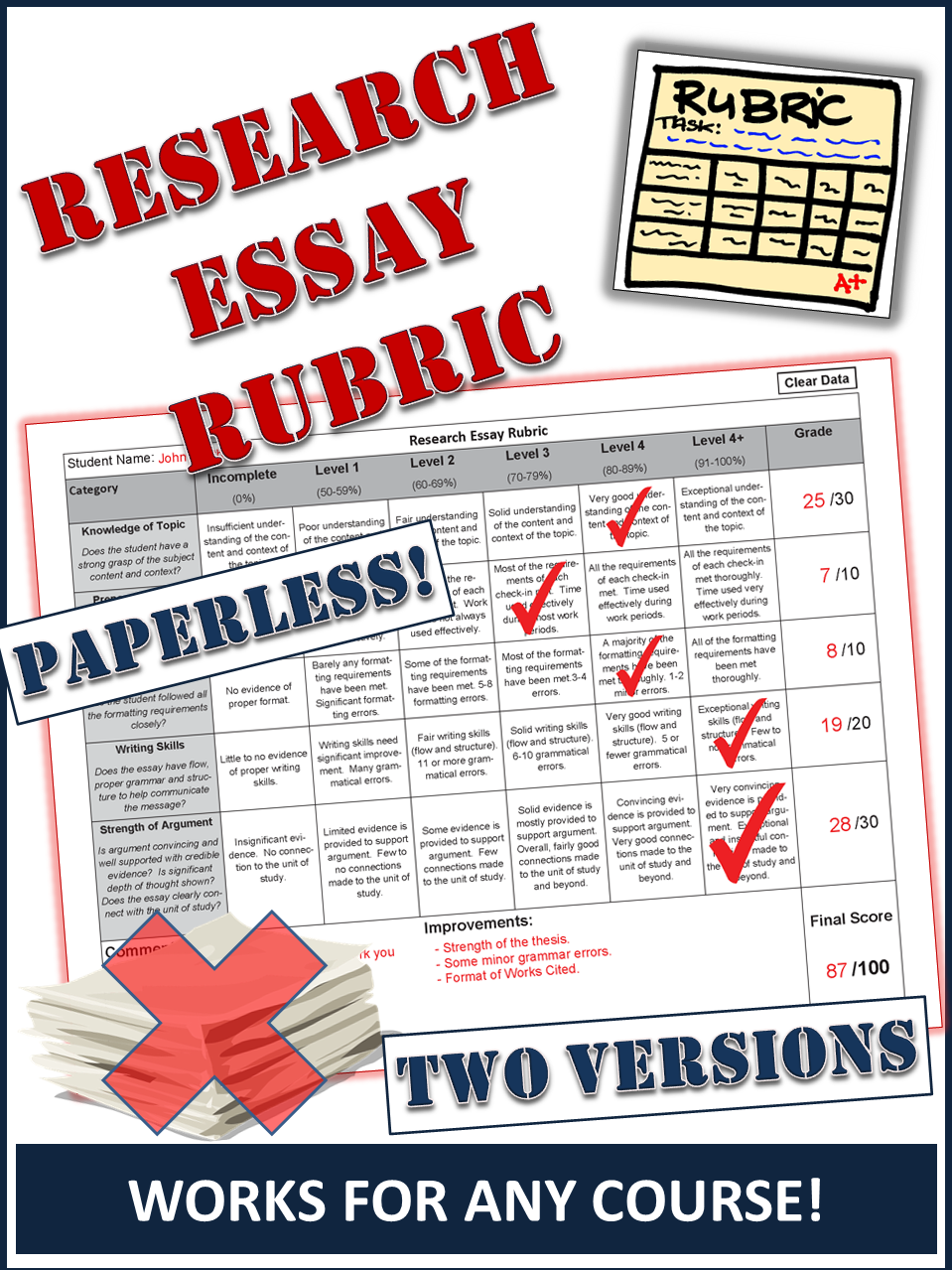 Research Essay Evaluation Rubric New Paperles Version Added Writing Concentration Camp