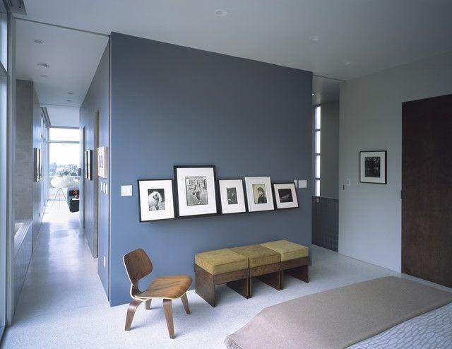 Gestaltung Farbe Blau Fotowand Möbel Design Ideen