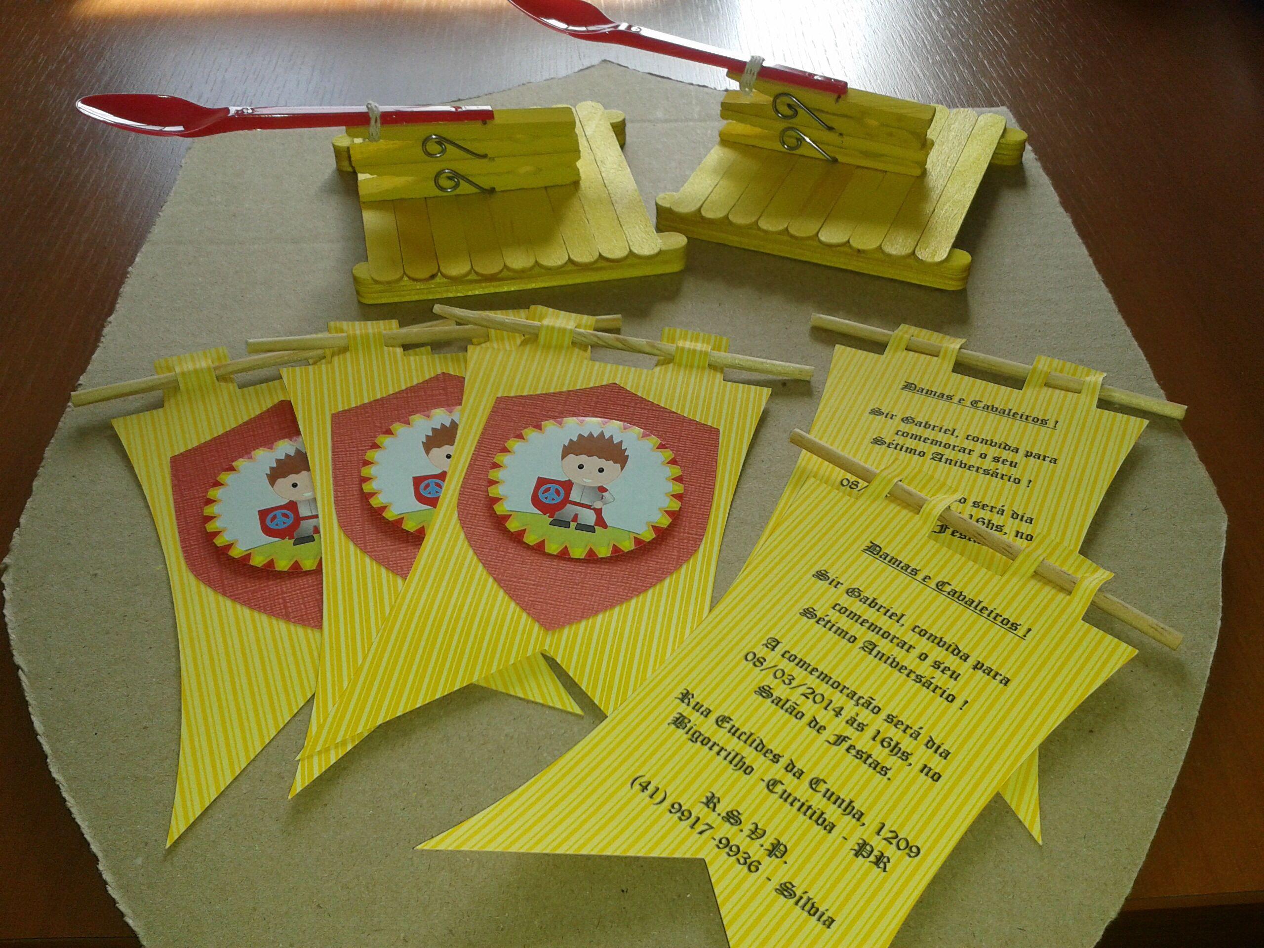 Convite festa Medieval
