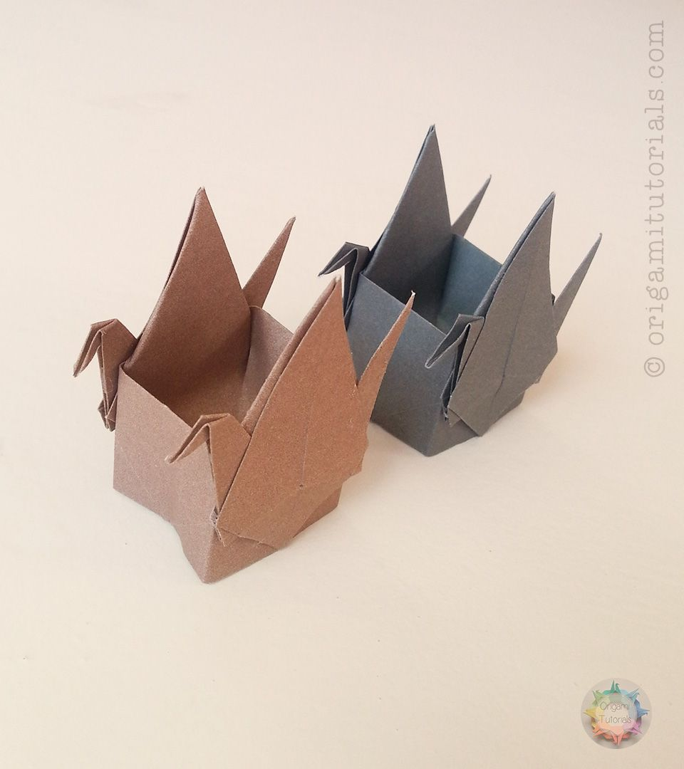 Box With Two Cranes Origami Pinterest And Crane Diagram I Found Another Cute Design That Want To Share You It Is Called By Elena Afonkina Of Russia The Can