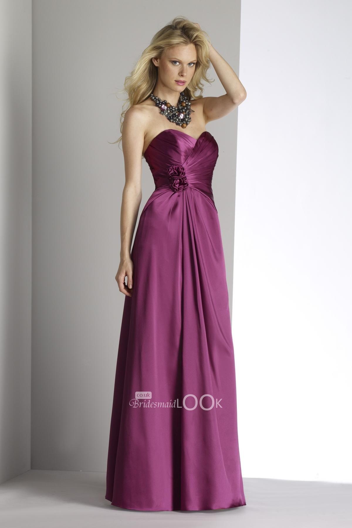 dark magenta bridesmaid dress sweetheart floor length evening dress ...