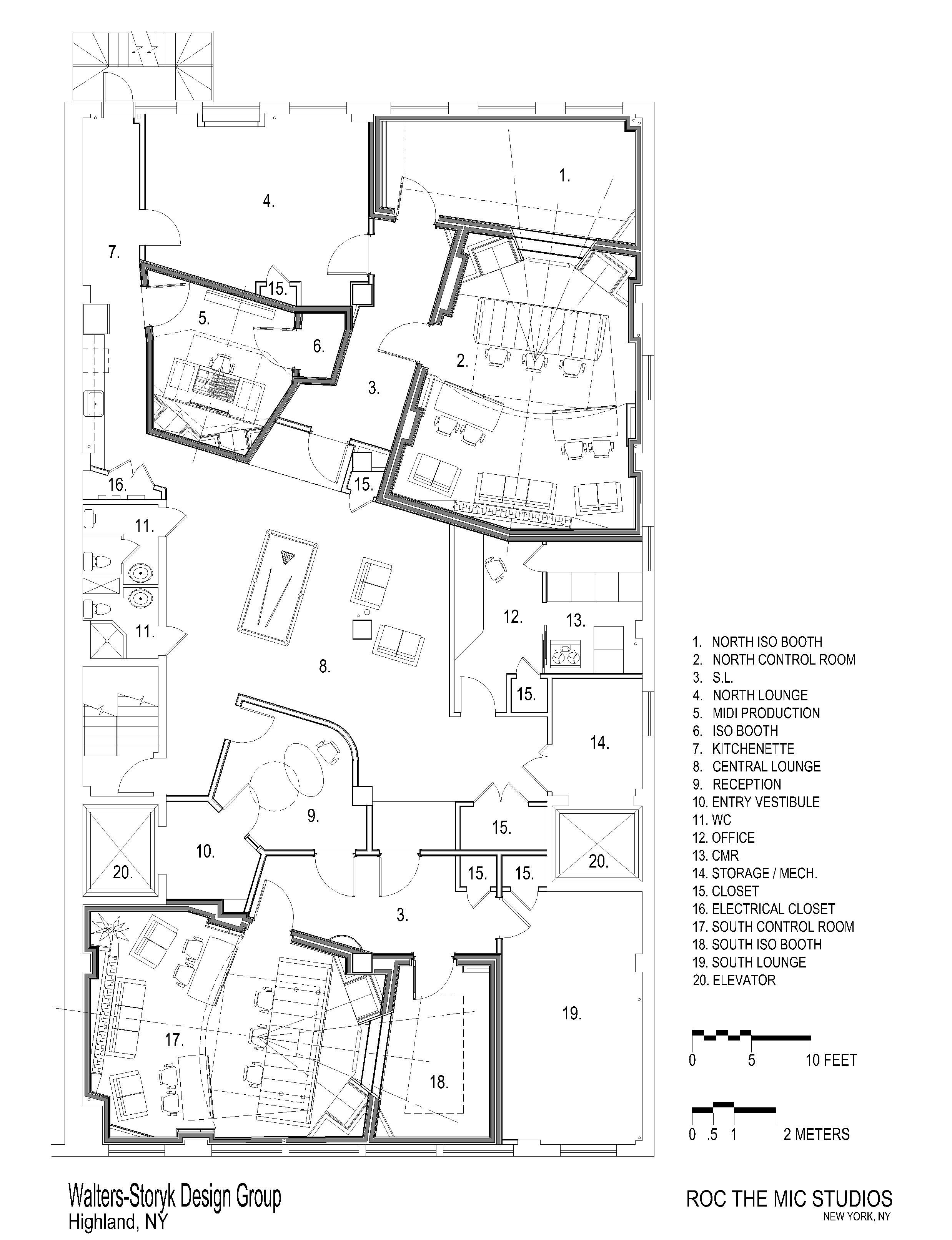 Music Studio Room Design: Roc The Mic Floor Plan, Jay Z (Roc The Mic Studios