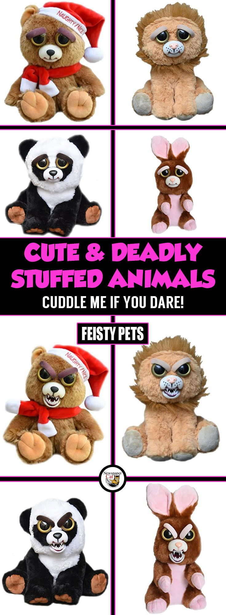 Feisty Pets Review Utterly Adorable Stuffed Animal Plushes That Will Scare The Bejesus Out Of You Cute Stuffed Animals Animals Gifts For Pet Lovers