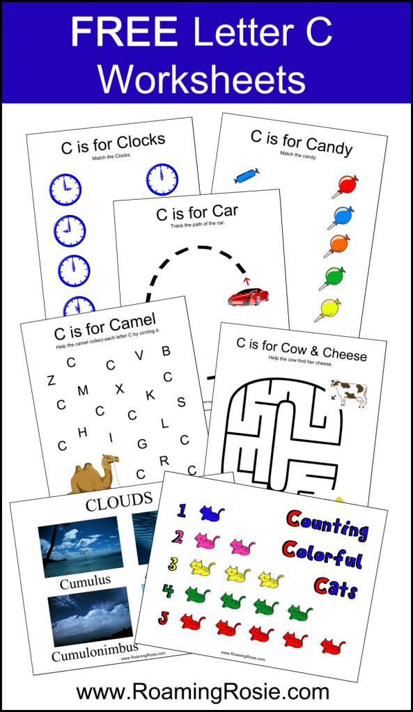 free printable letter c alphabet activities worksheets at alphabet activities. Black Bedroom Furniture Sets. Home Design Ideas