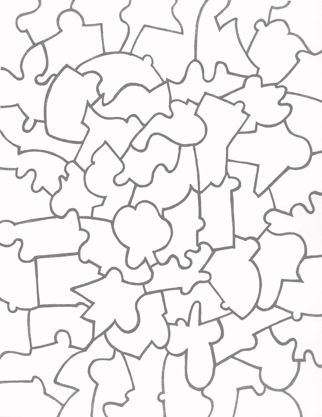 JigsawPuzzleTemplatePrintable  Vector    Printable