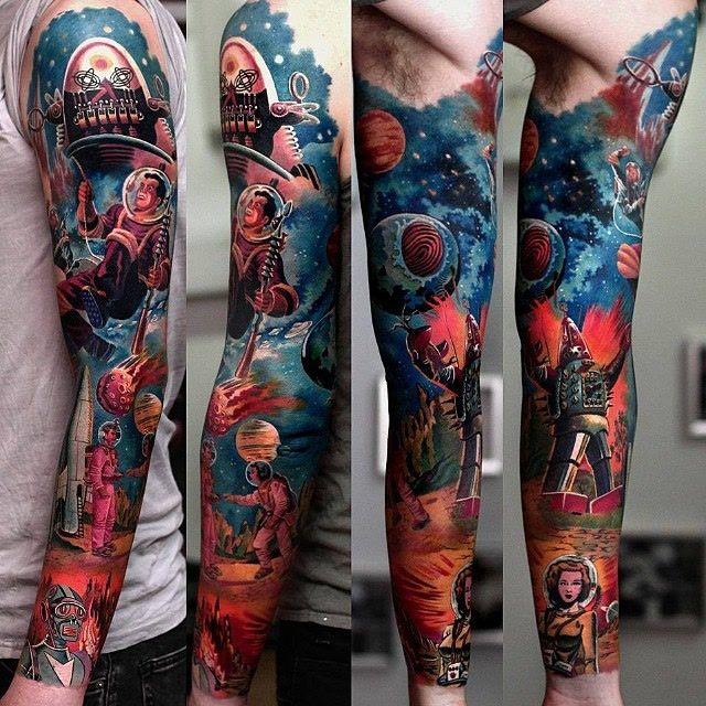 Forbidden Planet Sleeve | Art to Wear Permanently ...