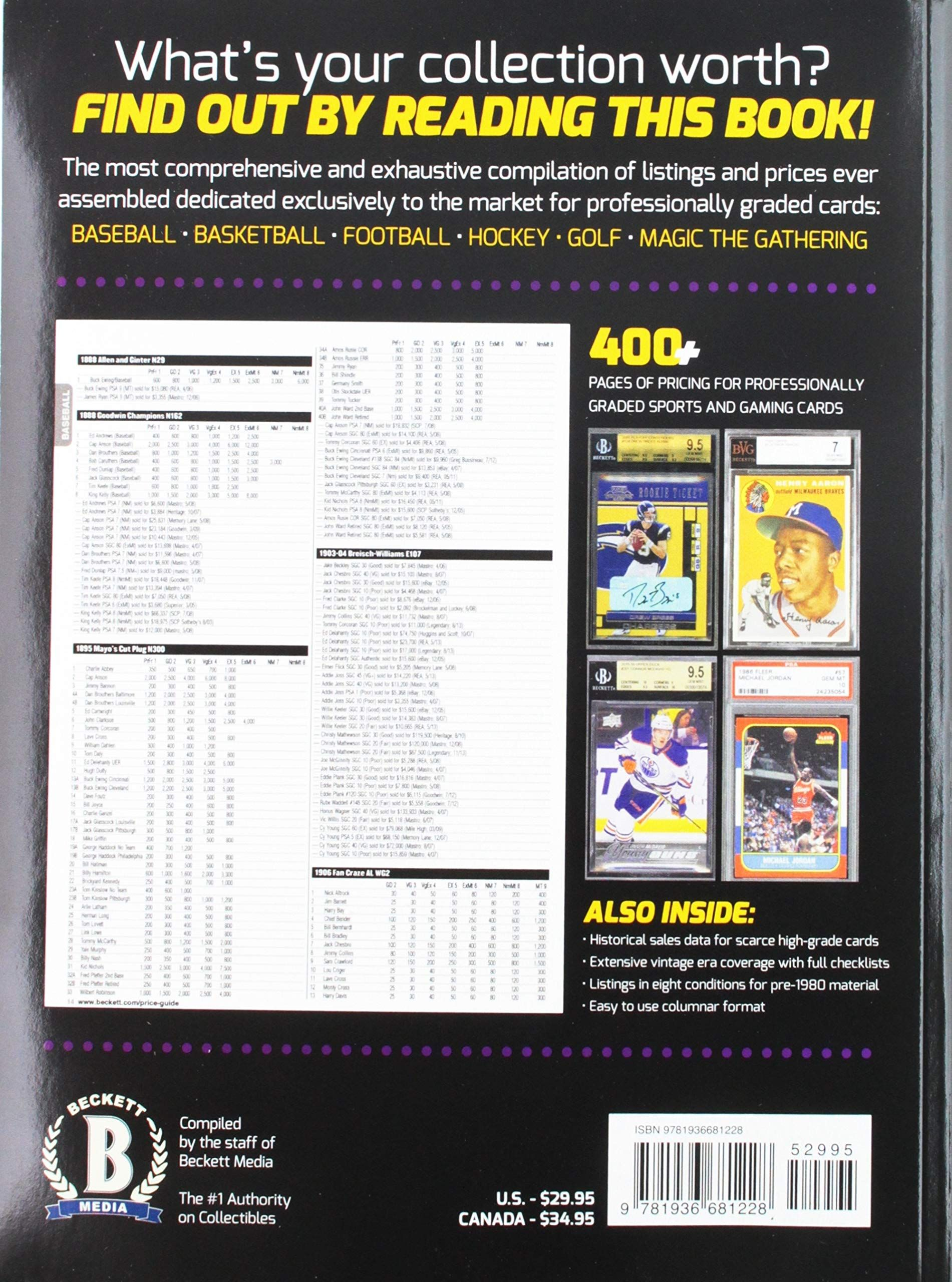 Beckett Graded Card Price Guide   Books in 2019   Cards