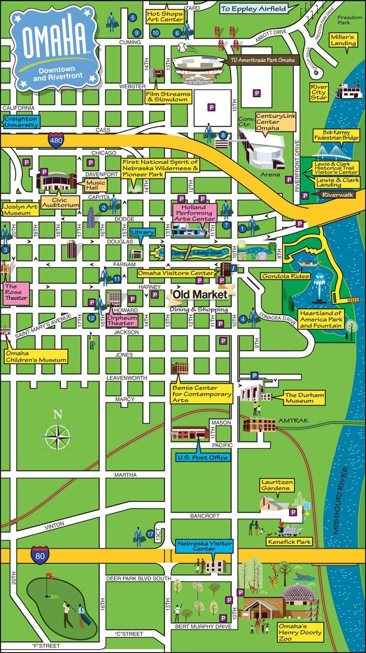 Street map Omaha Nebraska