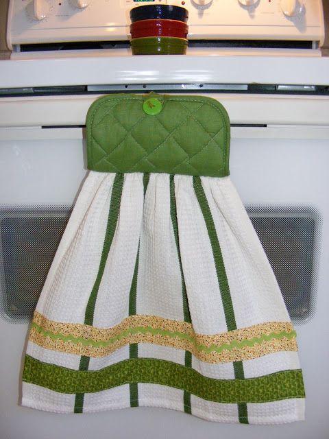 Semi-Homemade Kitchen Towel Gift | Sew Cute! | Kitchen