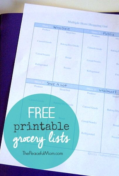 Printable Grocery List  Printable Shopping List Free Printable