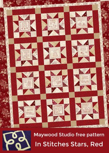 In Stitches Stars, Red Version designed by Debbie Beaves. Uses In ... : debbie beaves quilt patterns - Adamdwight.com