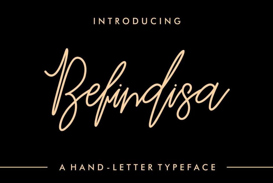 Free Design Data Download Befindisa Hand Letter Script Font