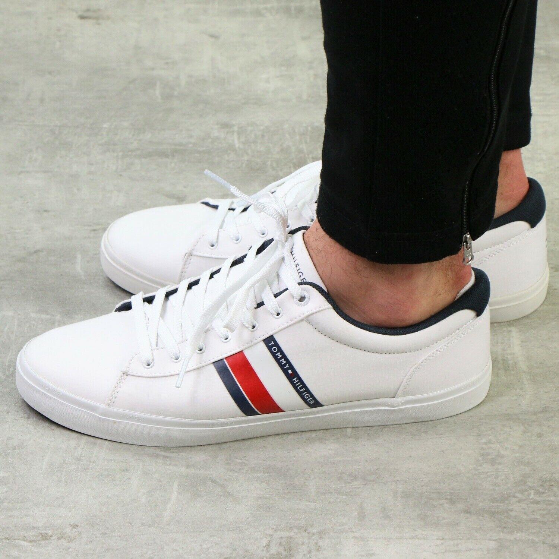 Tommy Hilfiger Essential Lace Up Sneaker Schuhe Herren Weiss Fm0fm02685 Ybs In 2020 Schuhe Herren Sneaker Schuhe Herren Sneaker