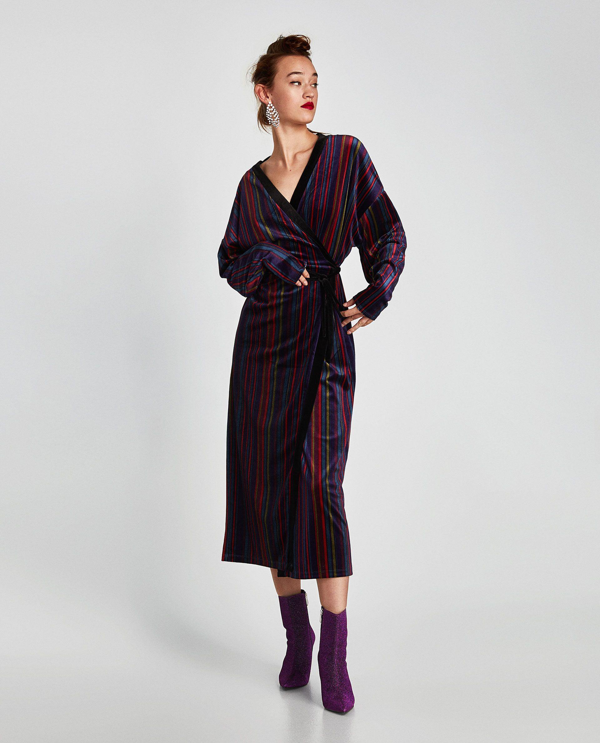 9ab15eec VESTIDO TERCIOPELO RAYAS en 2019 | CASUAL DAY | Zara y Fiesta