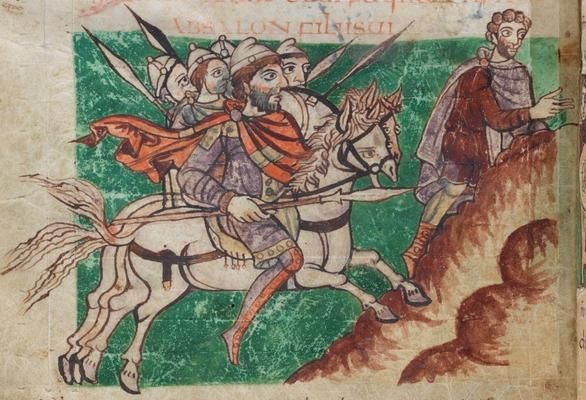 Stuttgart psalter 800 850miniature object franks saxons and lombards oh my dark ages - Cabinet anglo saxon paris ...