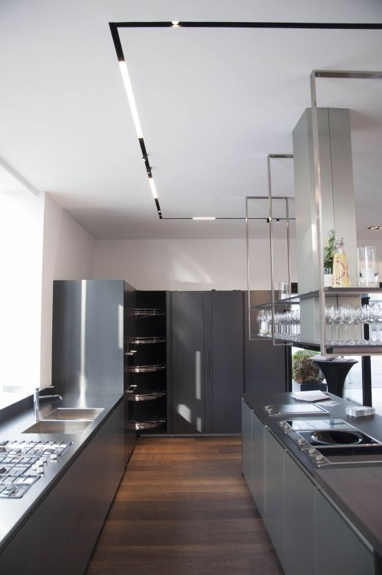 Kitchen Track Lighting Fixtures Red Cherry Cabinets The Running Magnet By Flos. Available From Euroluce ...