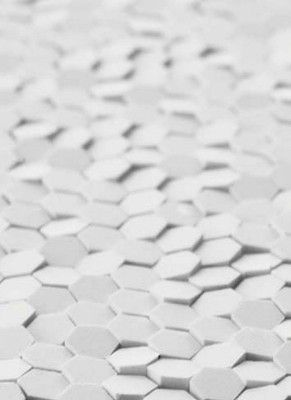 PHENOMENON – CERAMICHE MUTINA SR – Honeycomb Design Tokujin Yoshioka 2010 A collection which evokes the research done in the last years by Tokujin Yoshioka on the interaction of the natural phenomena and laws with his creativity.