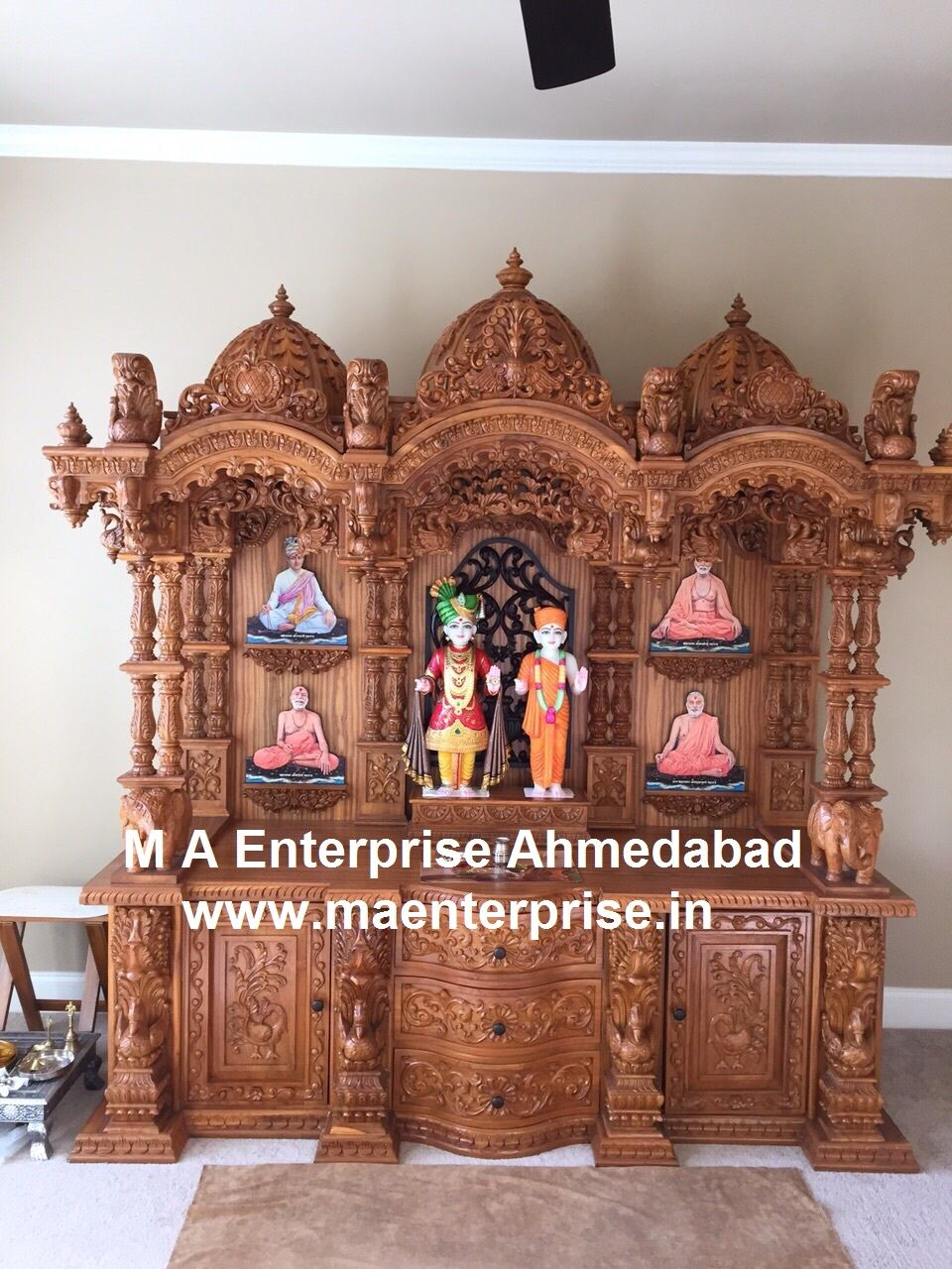 Swaminarayan Wooden Mandir For Home