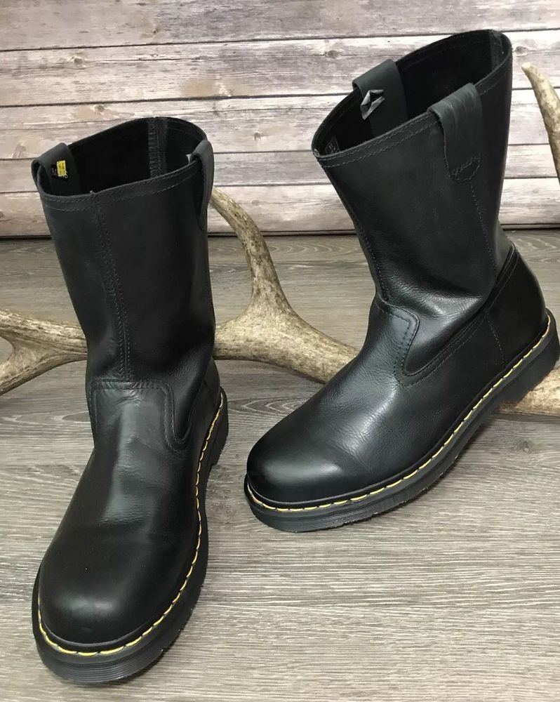 9f84a3a495f Dr. Martens Ranger Pull On Mid Calf Black Men s Leather Boots Sz 11 NEW  Sold Out