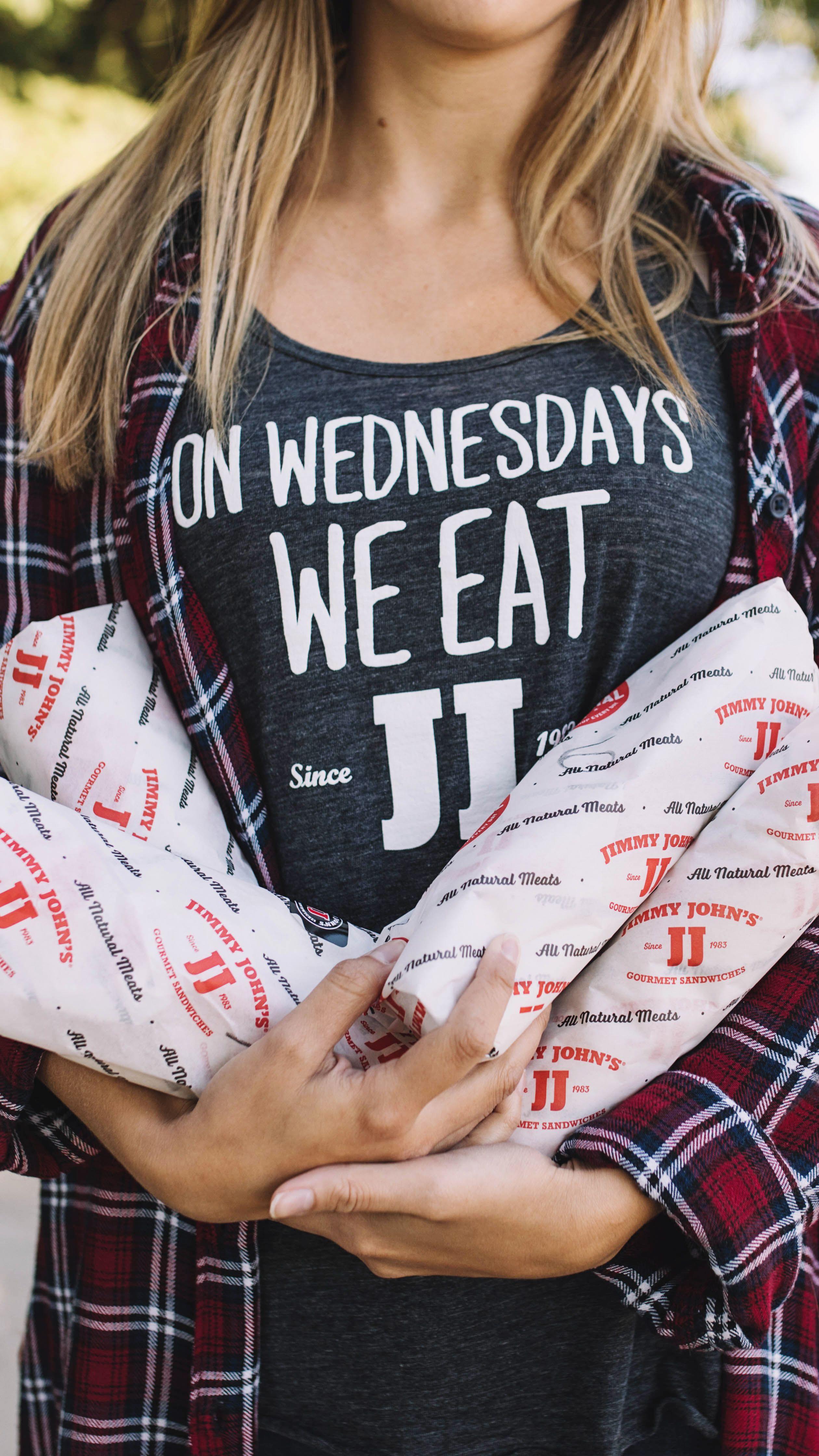 Mean Girls tank top On Wednesdays we eat Jimmy John's T
