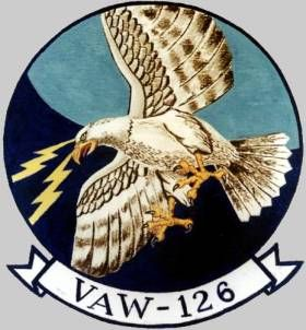 STICKER USN VAW 126 Sea Hawks