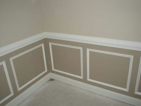 Two Tone Shadow Box Molding Living Room Remodel Home Remodeling Room Remodeling