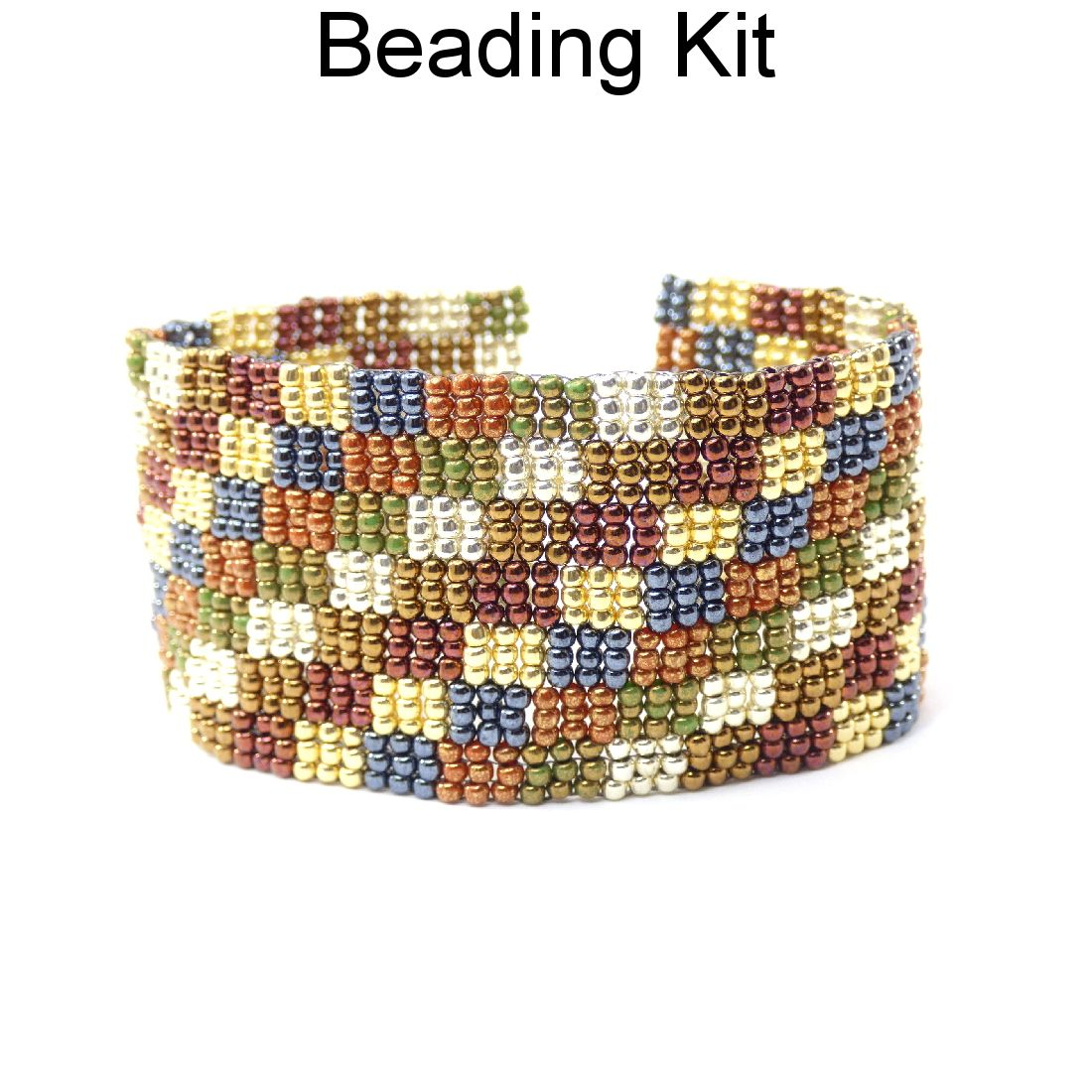 Beaded diagonal patchwork 3 drop peyote quilt bracelet beading beaded diagonal patchwork 3 drop peyote quilt bracelet beading pattern tutorial beading kit baditri Images