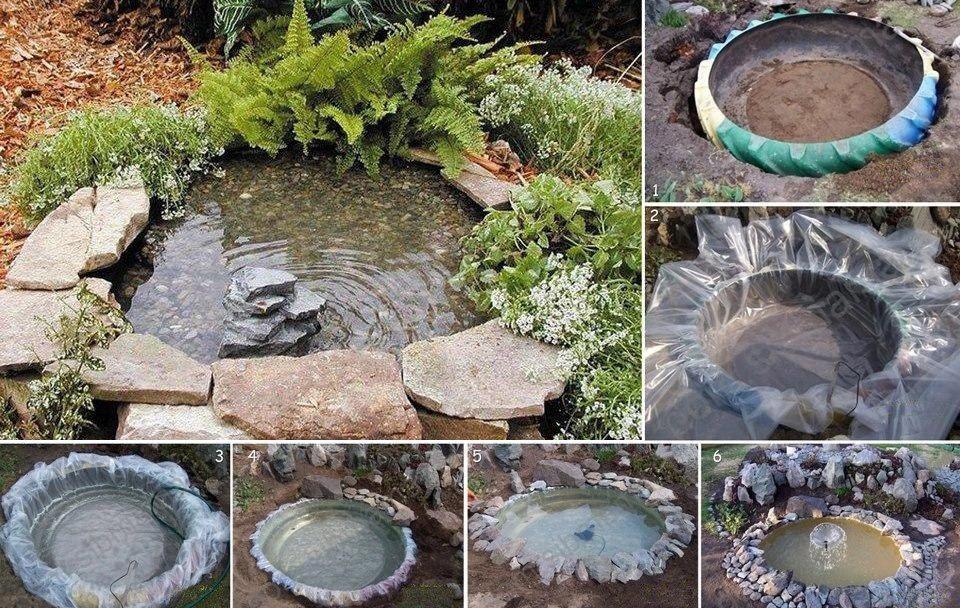 Buenas ideas para reciclar un neumático hacer un mini estanque para tu jardín