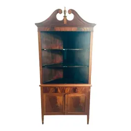 Vintage Used Shelves Shelving For Sale Chairish Corner China Cabinets Mahogany China Cabinet Display