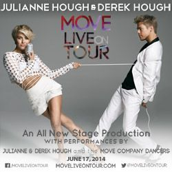 Catch #derekhough  #juliennehough LIVE on stage on June 17 for their newest stage production! #dance #atlanta