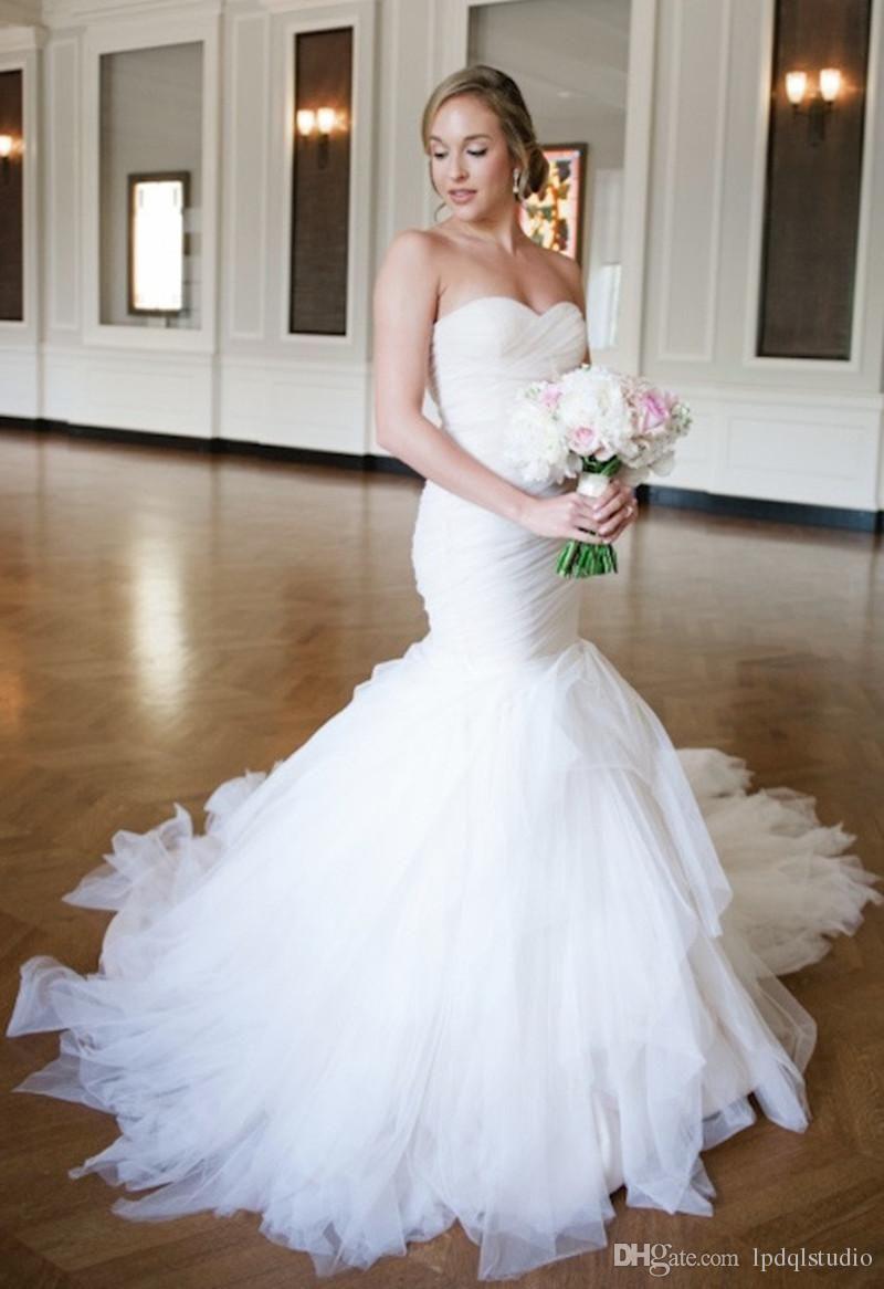 7f382b7594 Sexy Mermaid Wedding Dresses Cheap Custom Made Plus Size Bridal Gowns Off  White 2017 New Arrival Satin Mermaid Wedding Dress Strapless Mermaid  Wedding Dress ...