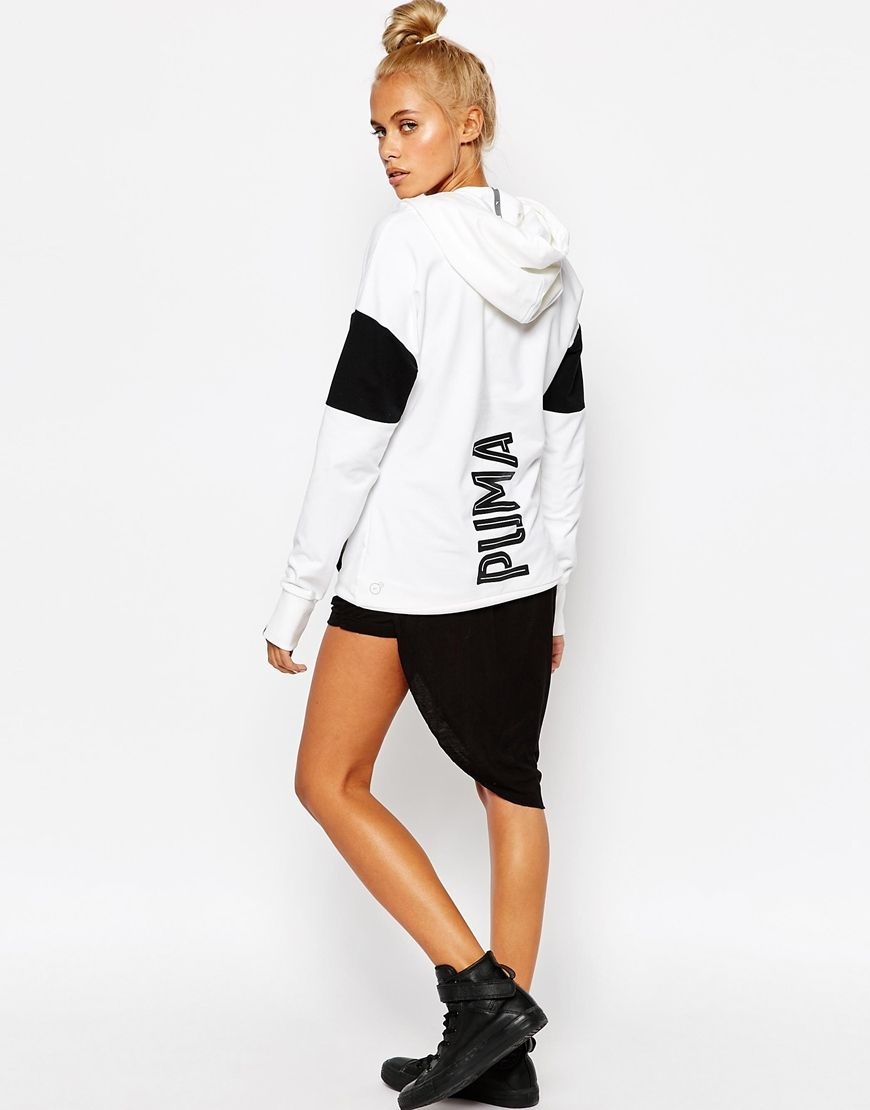 52abb62f0a36 Image 4 of Puma Oversized Pullover Hoodie With Large Back Logo ...