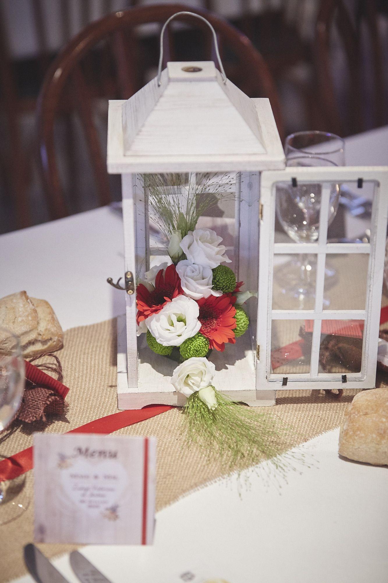 Lanterne Et Composition Florale Centre De Table Lanterne