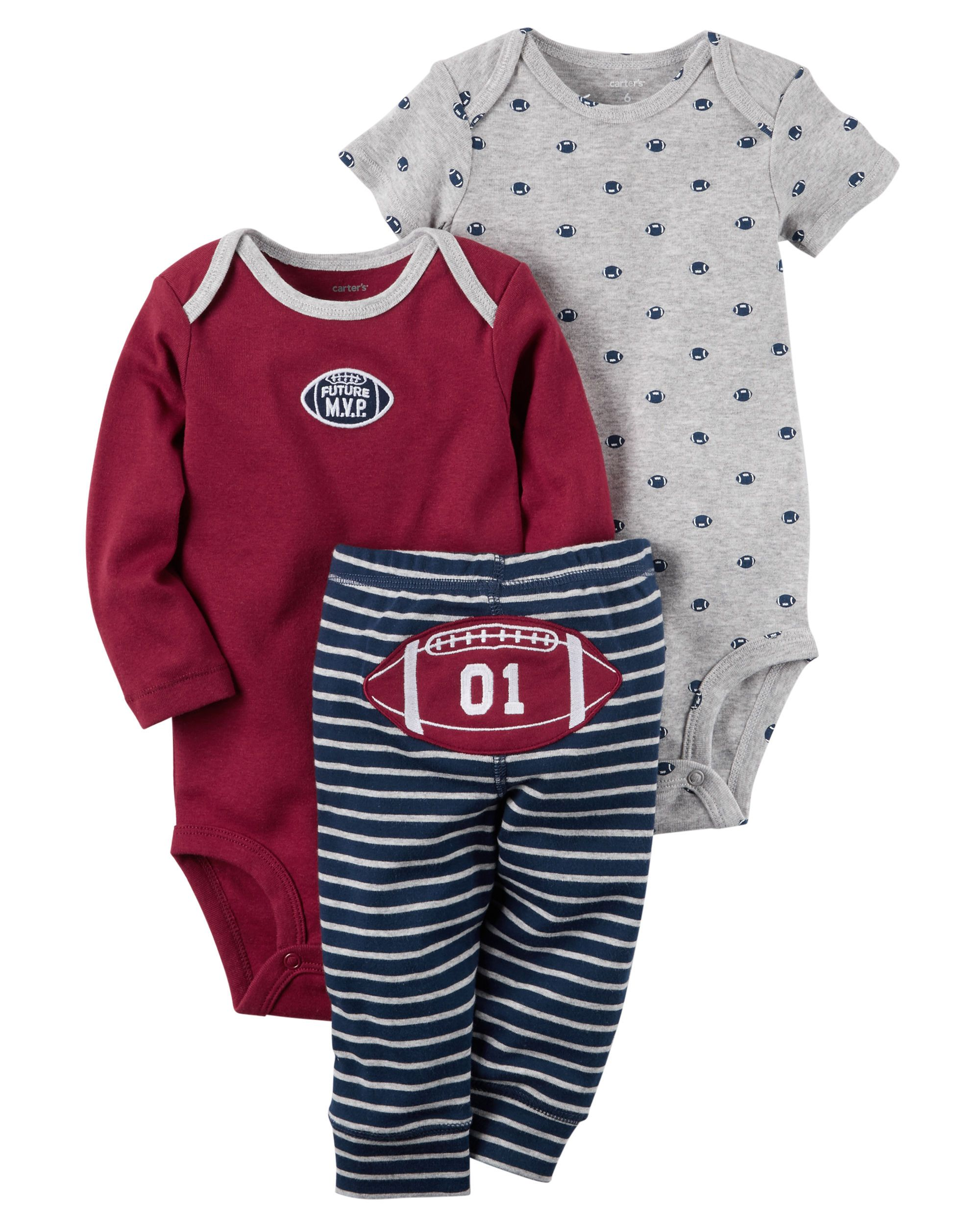 a95db3028 3-Piece Little Character Set | baby boy clothes | Carters baby ...