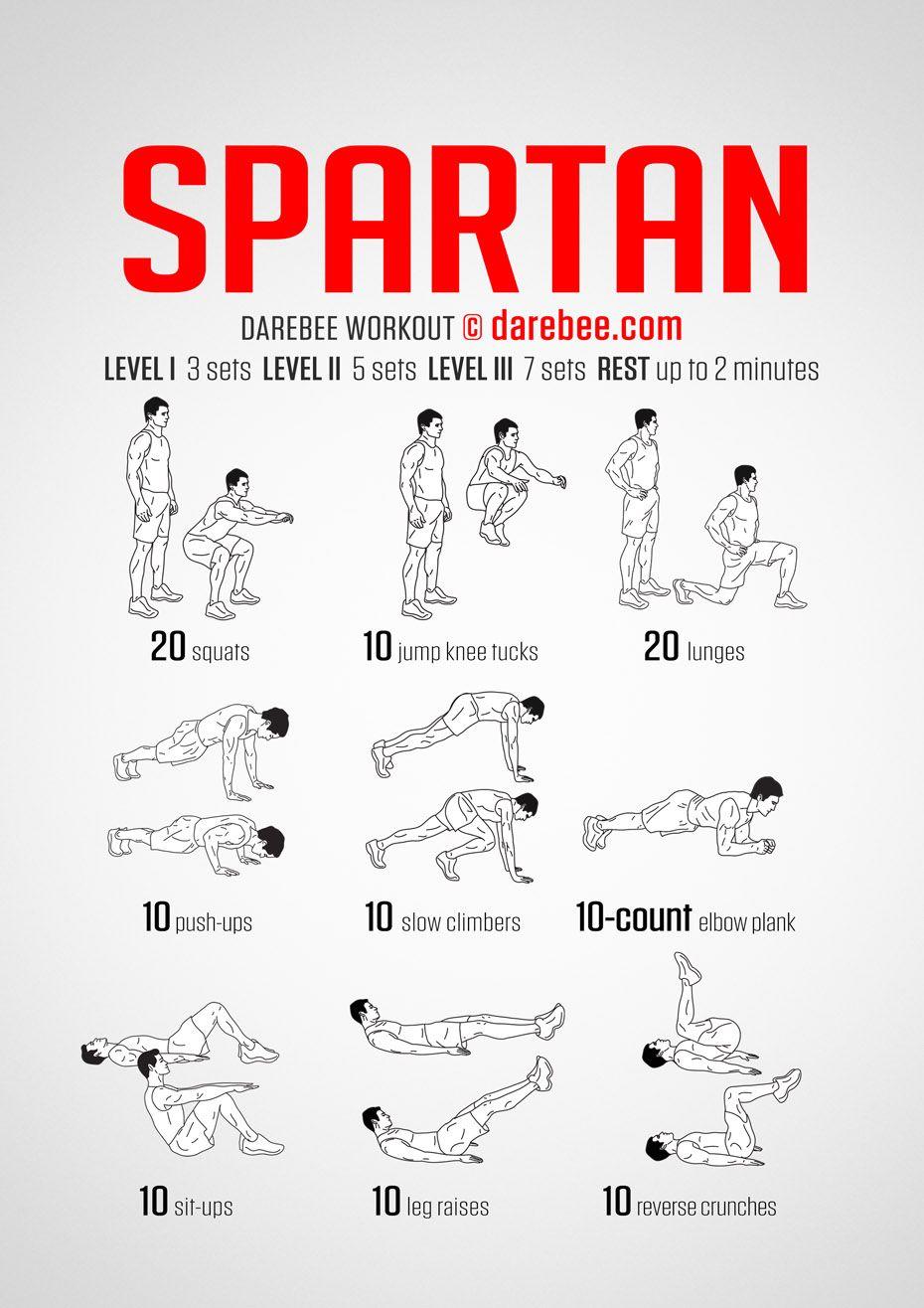 Spartan Workout | Spartan workout, Darebee, Workout