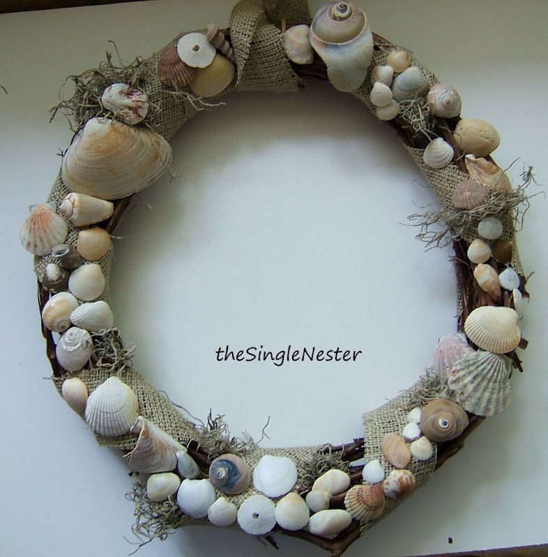 The Single Nester: Seashell Wreath for Summer