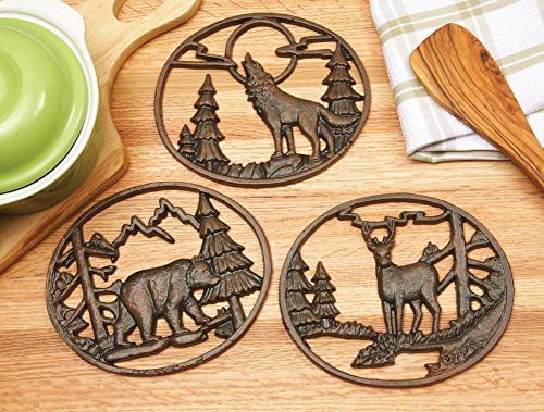 Metal Northwoods Kitchen Trivets - Set Of 3