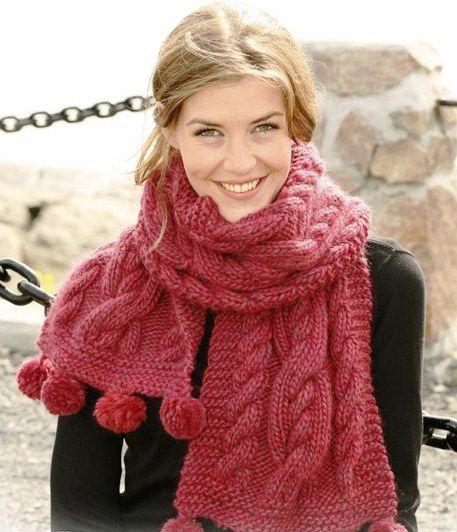 вязаные шарфы - Google Search
